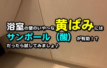 浴室 壁 黄ばみ 石鹸カス