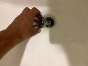 排水溝の受け皿汚れ