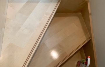 階段掃除後
