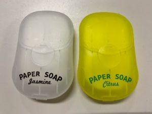 ダイソーの紙石鹸