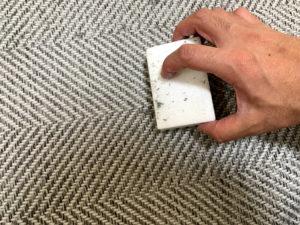 KEDAMANIAで絨毯の毛玉を取る