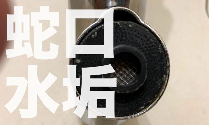 蛇口の水垢(白い塊)を除去