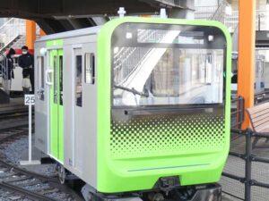 さいたま市の鉄道博物館。ミニ運転列車